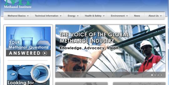methanol.org-homepage
